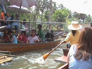 Floating Market in Countryside by Paddle Boat